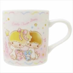 リトルツインスターズ キキ&ララ マグカップ 磁器製 マグ 星空ダンス ピンク サンリオ キャラクター グッズ
