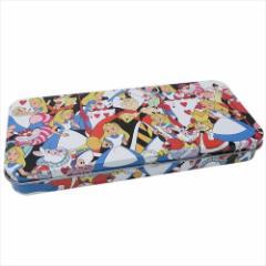 ふしぎの国のアリス 缶 ペンケース キャラ カンペン ぎっしり ディズニー キャラクター グッズ
