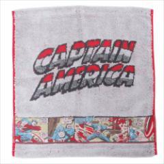 キャプテンアメリカ ハンドタオル ジャガードウォッシュタオル ビンテージ マーベル キャラクターグッズ メール便可