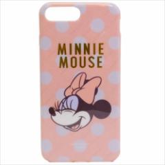 ミニーマウス iPhone 8 Plus ケース アイフォン8プラス ソフトカバーディズニー キャラクターグッズ メール便可