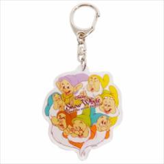 白雪姫 キーリング アクリルキーホルダー 七人の小人 ディズニー キャラクターグッズ メール便可