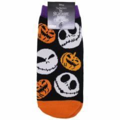 ナイトメアビフォアクリスマス 女性用靴下 レディースソックス ハロウィン ジャック かぼちゃ ディズニー メール便可