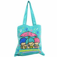 ゴロピカドン トートバッグ キャンバスカラートート 傘 グリーン サンリオ キャラクター グッズ