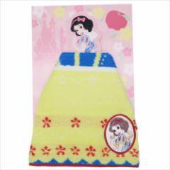 白雪姫 ミニタオル ジャガードハンカチタオル ドレスアップスノー ディズニープリンセス キャラクターグッズ メール便可