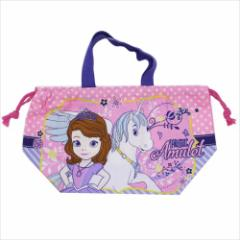 ちいさなプリンセス ソフィア ランチ巾着 お弁当きんちゃくバッグ ユニコーン 18 ディズニー キャラクターグッズ メール便可