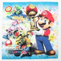 スーパーマリオ マリオカート8デラックス ランチクロス コットンナフキン MBS-496 nintendo キャラクターグッズ メール便可