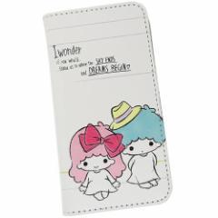 リトルツインスターズ キキ&ララ iPhoneX ケース アイフォンX 手帳型カバー Aタイプ サンリオ キャラクターグッズ メール便可