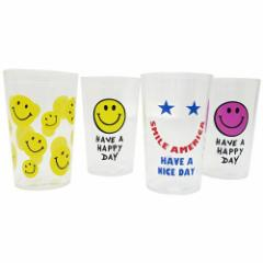 HAVE A HAPPY DAY プラカップ クリアタンブラー 4柄セット Bセット レジャー用品 グッズ