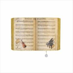 取寄品 壁掛けオルゴール ブック型プーリーオルゴール 楽譜 ノクターン アンティーク風 グッズ