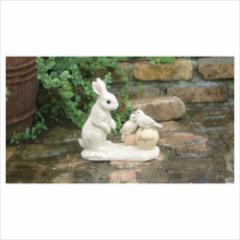 取寄品 置物 ガーデンオーナメント ストーリーブックアニマルズ ウサギ×トリ エクステリア ガーデン雑貨通販