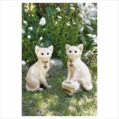 取寄品 置物 ガーデンオーナメント フォーチュンアニマルズ Sサイズ キャット エクステリア ガーデン雑貨通販
