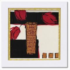 取寄品 ジャン・ワイス フラワーアート ミニゲル アートフレーム サマー 1987 インテリア グッズ