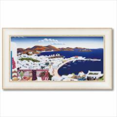 取寄品 送料無料 トーマス・マックナイト 風景画 アートフレーム ミコノス パノラマ インテリア グッズ