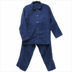 取寄品 送料無料 メンズ 紳士用 パジャマ マシュマロガーゼパジャマ ダークブルー ホームウェア グッズ