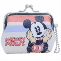 ミッキーマウス 小銭入れ ミニがまぐちポーチ PU素材 ディズニー キャラクターグッズ メール便可