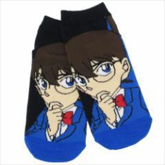 名探偵コナン 女性用靴下 レディースソックス BK×BL アニメキャラクターグッズ メール便可