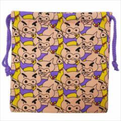 クレヨンしんちゃん 巾着袋 きんちゃくポーチ ぎっしり アニメキャラクターグッズ メール便可