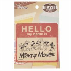 ミッキーマウス Sticker トラベルステッカー HELLO ディズニー キャラクターグッズ メール便可
