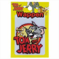 トムとジェリー ワッペン アイロンパッチ ロゴ キャラクターグッズ メール便可