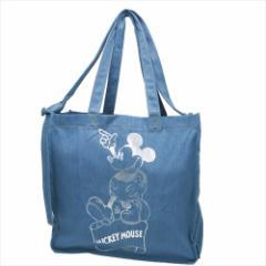 ミッキーマウス トートバッグ TALL トール デニム2wayショルダートート Otona Disney ディズニー キャラクター グッズ