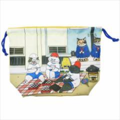 世にも不思議な猫世界 ランチ巾着 お弁当きんちゃく袋 イエロー KORIRI キャラクターグッズ メール便可