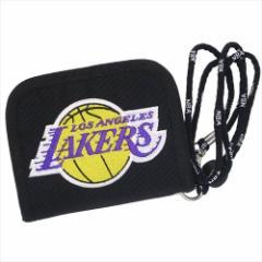 ロサンゼルス レイカーズ 2つ折り財布 ナイロンウォレットNBA バスケットボール グッズ