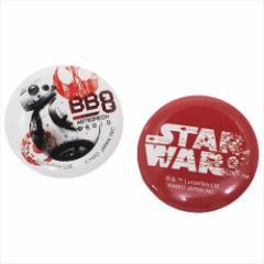 スターウォーズ 最後のジェダイ 缶バッジセット カンバッジ2個セット BB-8 STAR WARS キャラクターグッズ メール便可
