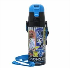 ポケットモンスター 保冷専用水筒 ロック付きワンプッシュステンレスボトル サン&ムーン18 ポケモン キャラクターグッズ