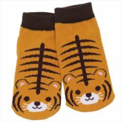 トラ 子供用靴下 キッズソックス アニマルフレンズ アンクルソックスグッズ メール便可
