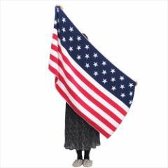 スターズ&ストライプ 大判バスタオル ジャガードレジャービーチタオル アメリカ国旗 グッズ