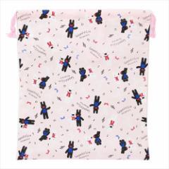 リサとガスパール 巾着袋 きんちゃくポーチL 2018年新入学 キャラクターグッズ メール便可