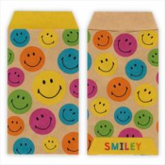 スマイリーフェイス ぽち袋 ミニ封筒5枚セット APY-144 Smiley Face キャラクターグッズ メール便可