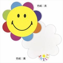 スマイリーフェイス 色紙 封筒付きダイカットメッセージボード フラワー Smiley Face キャラクター グッズ