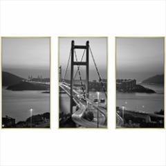 取寄品 送料無料 デザイナーズアート 写真 アート CLASSIC B&W PHOTOGRAPHY 3枚セット 額付きインテリア雑貨通販