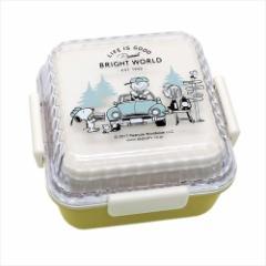 スヌーピー お弁当箱 2段スクエアランチボックス グランピング ピーナッツ キャラクター グッズ