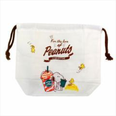 スヌーピー ランチ巾着 お弁当きんちゃくポーチ パーティータイム ピーナッツ キャラクターグッズ メール便可