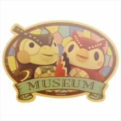どうぶつの森 ステッカー トラベルステッカー 博物館 nintendo キャラクターグッズ メール便可