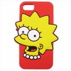 シンプソンズ アイフォン8ケース iPhone8 7 6S 6対応シリコンケース リサ キャラクター グッズ
