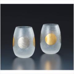 取寄品 日月 グラス タンブラー ペアセット S-6254 石塚硝子食器通販