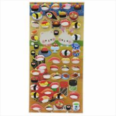 お寿司イラスト シールシート おたのしみシール 2枚セット かわいいグッズ メール便可