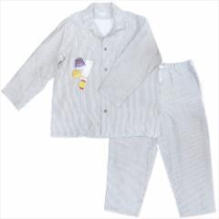 送料無料 メンズXLサイズ 紳士用 パジャマ マシュマロガーゼパジャマ ストライプ ダークグレー ホームウェア グッズ