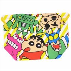 クレヨンしんちゃん ランチ巾着 マチ付き巾着袋 おきにいり アニメキャラクターグッズ メール便可
