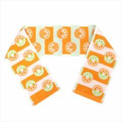 オレンジパターン マフラータオル ジャガードスリムロングタオル ポルトガルグッズ メール便可