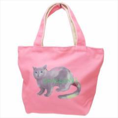 ミネット ランチバッグ 天ファスナー付きミニトートバッグ ピンク ねこ かわいいグッズ通販