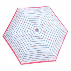 ミニーマウス 折畳傘 レディース折りたたみ傘 ボーダー ディズニー キャラクターグッズ通販