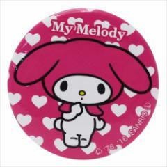 マイメロディ 缶バッジ 31mmカンバッジ ハート サンリオ キャラクターグッズ通販 メール便可
