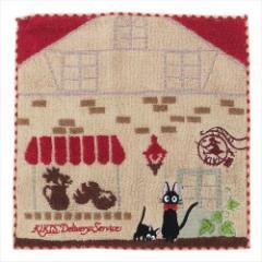 魔女の宅急便 ミニタオル ジャガードハンカチタオル パン屋とジジ スタジオジブリ キャラクターグッズ通販 メール便可