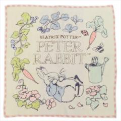 ピーターラビット ミニタオル 全面刺繍ハンカチタオル クロップ 絵本キャラクターグッズ通販 メール便可