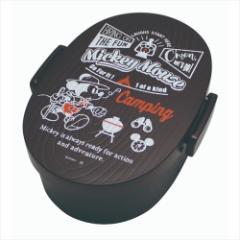 ミッキーマウス お弁当箱 タイト式木目ランチボックス キャンピングMickey ダークブラウン ディズニー キャラクターグッズ通販