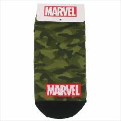 MARVEL 子供用靴下 ジュニアソックス BOXロゴ ミリタリーグリーン マーベル キャラクターグッズ通販 メール便可